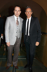 Left to right, DAVID FURNISH and PATRICK COX at the opening reception of 'Bejewelled by Tiffany 1837-1987' at The Gilbert Collection, Somerset House, London on 21st June 2006.