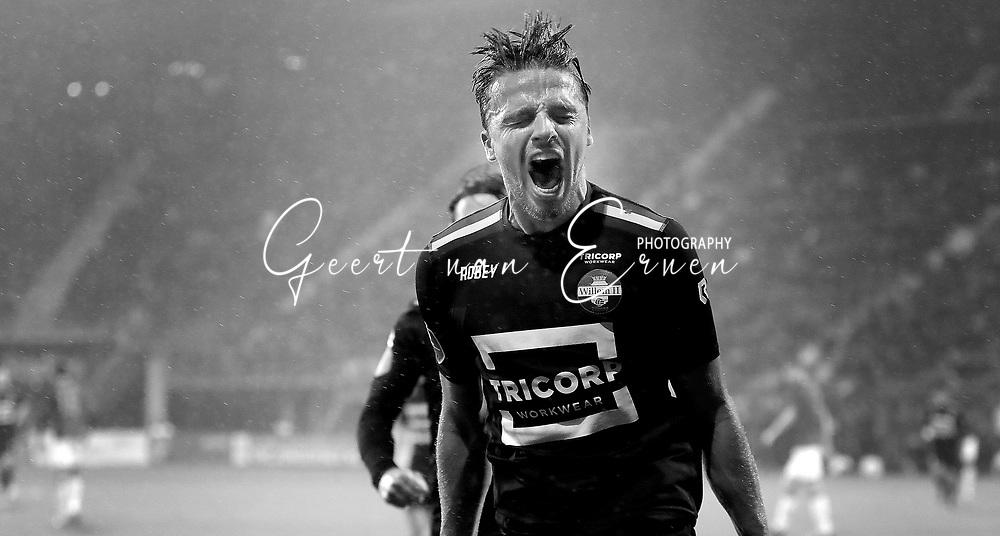 Ben Rienstra of Willem II celebrates 0-1
