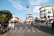 Israel, Tel Aviv, Allenby street, Magen David junction, carmel market, view on king George and shenkin street November 2005