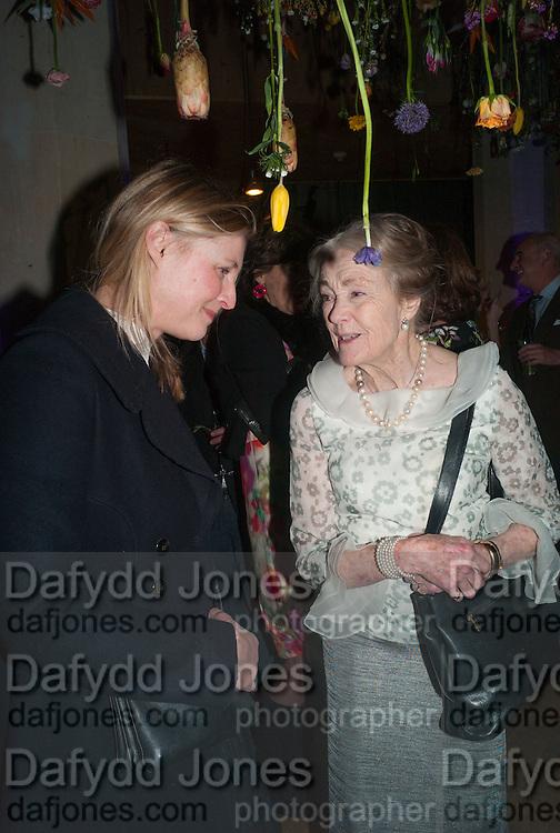 LAURA BURLINGTON; MARCHIONESS OF SALISBURY, Fashion and Gardens, The Garden Museum, Lambeth Palace Rd. SE!. 6 February 2014.