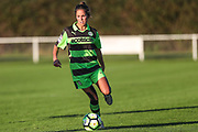 Forest Green Rovers Kayla Garland(11) on the ball during the South West Womens Premier League match between Forest Greeen Rovers Ladies and Marine Academy Plymouth LFC at Slimbridge FC, United Kingdom on 5 November 2017. Photo by Shane Healey.