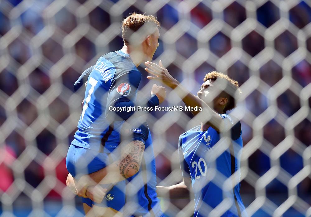 2016.06.26 Saint-Etienne<br /> Pilka nozna Euro 2016<br /> mecz 1/8 finalu Francja - Irlandia<br /> N/z bramka gol radosc Antoine Griezmann<br /> Foto Lukasz Laskowski / PressFocus<br /> <br /> 2016.06.26<br /> Football UEFA Euro 2016 <br /> Round of 16 game between France and Republic of Ireland <br /> bramka gol radosc Antoine Griezmann<br /> Credit: Lukasz Laskowski / PressFocus