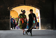"""""""Mua Khen"""" is a traditional dance of hill tribe in Dong Van, Ha Giang."""