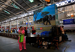 INDIA MUMBAI 28MAY10 - Victoria train station in Mumbai, India...jre/Photo by Jiri Rezac..© Jiri Rezac 2010
