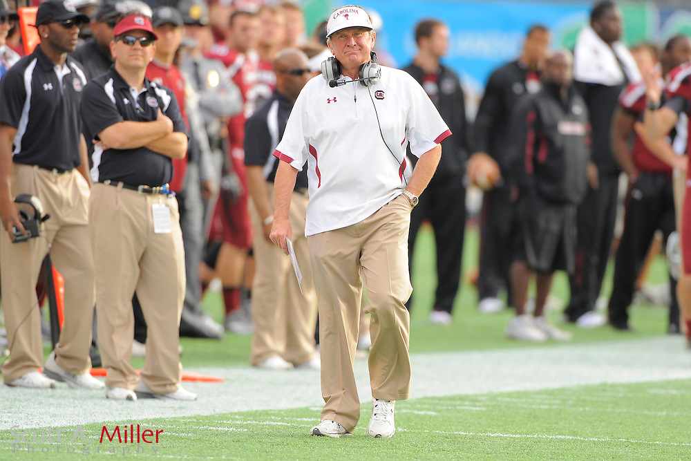 South Carolina Gamecocks head coach Steve Spurrier during the Capital One Bowl against the Nebraska Cornhuskers at Florida Citrus Bowl on Jan. 2, 2012 in Orlando, Fla. South Carolina won 30-13...©2012 Scott A. Miller