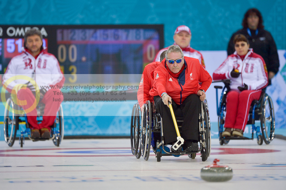 Jim Gault, Wheelchair Curling Semi Finals at the 2014 Sochi Winter Paralympic Games, Russia