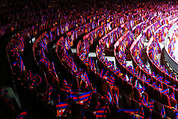 Flags laid out on the seats before kick off at the Camp Nou Stadium - Mandatory by-line: Matt McNulty/JMP - 14/03/2018 - FOOTBALL - Camp Nou - Barcelona, Catalonia - Barcelona v Chelsea - UEFA Champions League - Round of 16 Second Leg