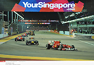 en nocturne .. *** Local Caption *** vettel (sebastian) - (ger) -..alonso (fernando) - (esp) -