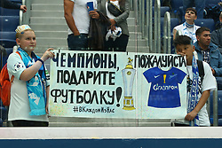 May 26, 2019 - St. Petersburg, Russia - Russian Federation. Saint-Petersburg. Gazprom-arena. Football. 30 tour of the Russian Premier League, Russian Premier League, Zenit - FC Yenisey, 4:1. Fans of FC Zenit. (Credit Image: © Russian Look via ZUMA Wire)