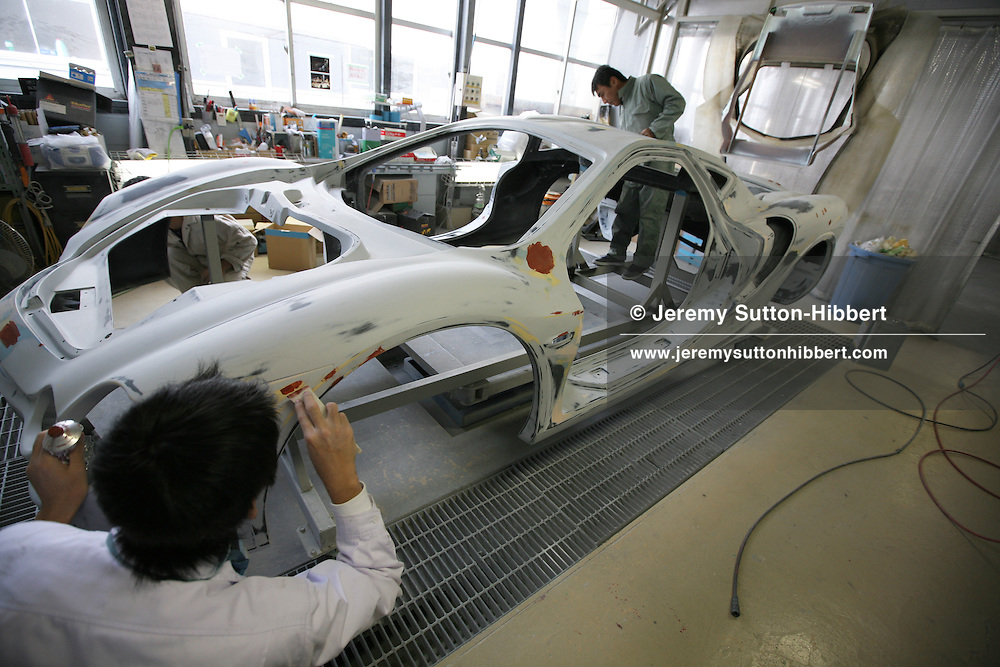 'Orochi' car on the production line at the Mitsuoka car factory, near Toyama, Japan, Wednesday, November 14th, 2007.