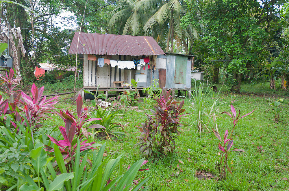A tin house in the small village of Tortuguero, Costa Rica. Photo by William Drumm.