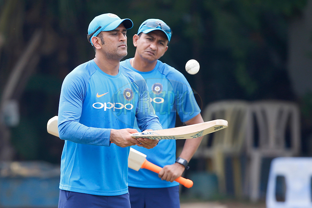 Mahendra Singh Dhoni  of India during the Indian practice sessions held at the M. A. Chidambaram Stadium in Chennai ahead of the 1st One Day International match.  16th September 2017<br /> <br /> Photo by Deepak Malik / BCCI / SPORTZPICS