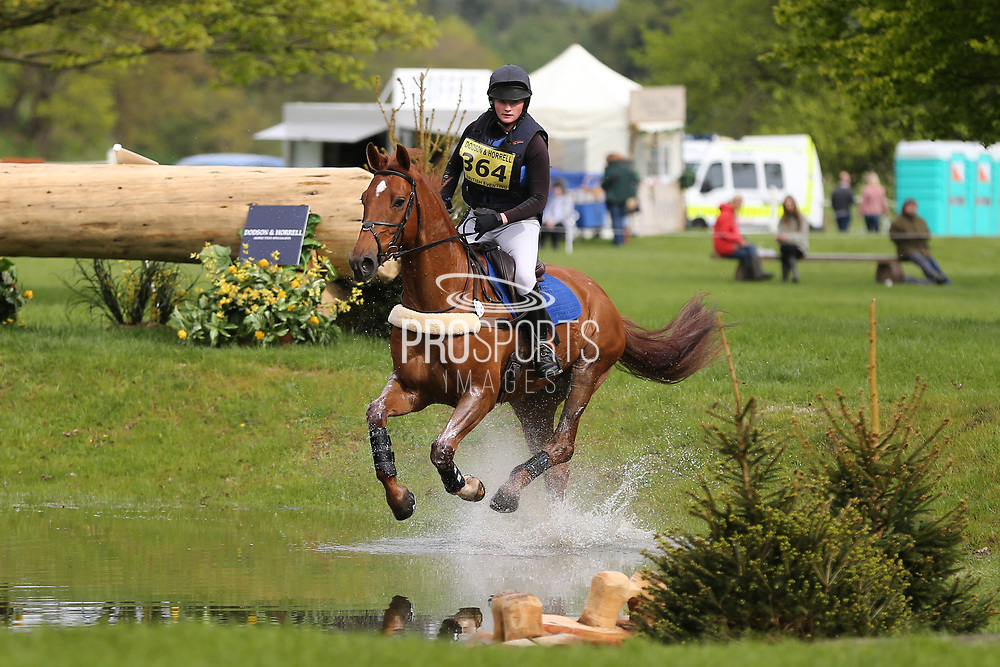 Charlotte Dennis riding Darrango during the International Horse Trials at Chatsworth, Bakewell, United Kingdom on 12 May 2018. Picture by George Franks.
