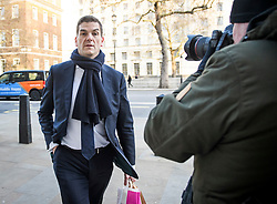 © Licensed to London News Pictures. 28/01/2019. London, UK. Prime Minister's Europe Adviser OLLY ROBBINS is seen arriving at the Cabinet Offices on Whitehall. MPs on Tuesday will vote on a series of amendments to the PM's plans that could shape the future direction of Brexit.. Photo credit: Ben Cawthra/LNP