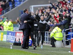 Cardiff City's Manger Malky Mackay celebrates - Photo mandatory by-line: Joe Meredith/JMP - Tel: Mobile: 07966 386802 16/02/2013 - SPORT - FOOTBALL - Cardiff City Stadium - Cardiff -  Cardiff City V Bristol City - Npower Championship
