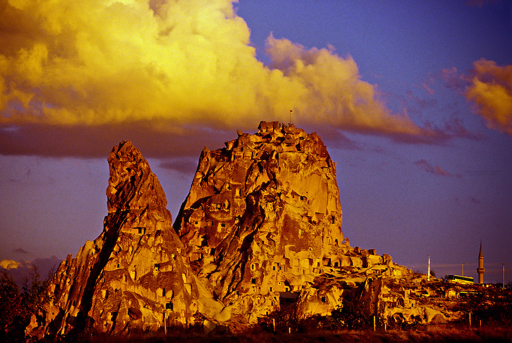 Uchisar Castle (rock fortress), Uchisar, Cappadocia, Turkey