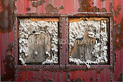 Image of old trains and train parts at Steamtown National Park PA.
