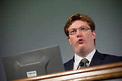 © licensed to London News Pictures. London, UK 25/09/2013. Danny Alexander, Chief Secretary to the Treasury speaking at the Institution of Civil Engineers UK conference on Transport at One Great George Street in central London on Wednesday, 25 September, 2013. Photo credit: Tolga Akmen/LNP