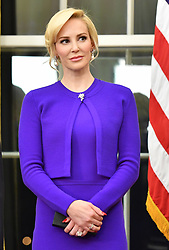 Aug 22, 2017 - Eugene, Oregon, U.S. - (File Photo) - Treasury Secretary Steve Mnuchin's wife Louise Linton apologized Tuesday after a backlash for an Instagram post for brand-name-dropping. PICTURED: February 13, 2017 - Washington, District of Columbia, United States of America - United States Secretary of the Treasury Steven Munchin's fiancee LOUISE LINTON attends Munchin's swearing-in ceremony at the White House. (Credit Image: © Kevin Dietsch/Pool/CNP via ZUMA Wire)
