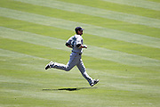 ANAHEIM, CA - JULY 10:  Adam Kennedy #4 of the Seattle Mariners jogs before the game against the Los Angeles Angels of Anaheim on July 10, 2011 at Angel Stadium in Anaheim, California. (Photo by Paul Spinelli/MLB Photos via Getty Images) *** Local Caption *** Adam Kennedy