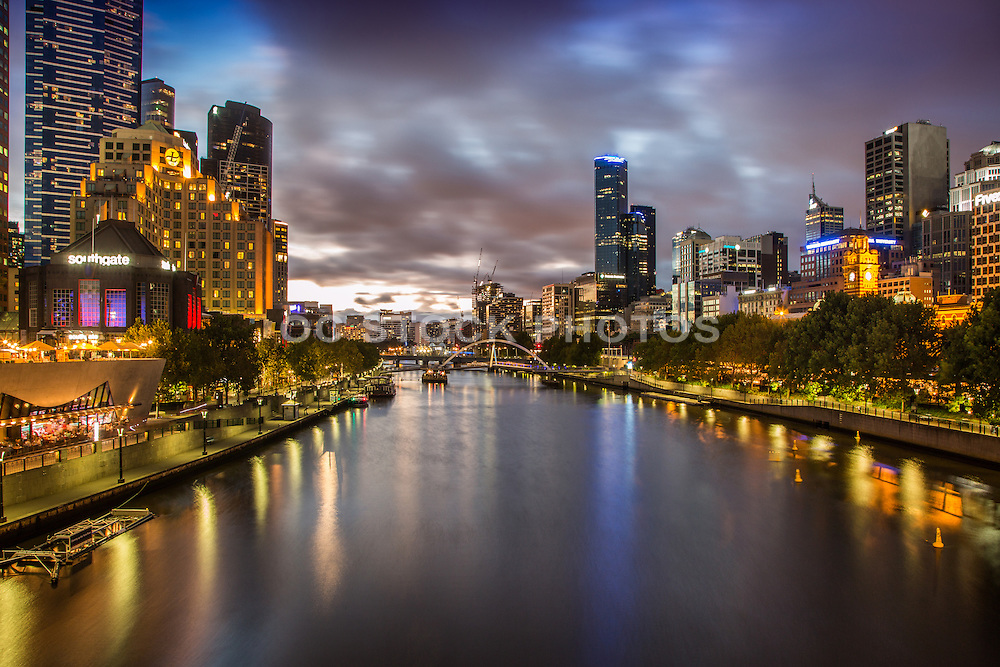 Southbank and Yarra River at Dusk