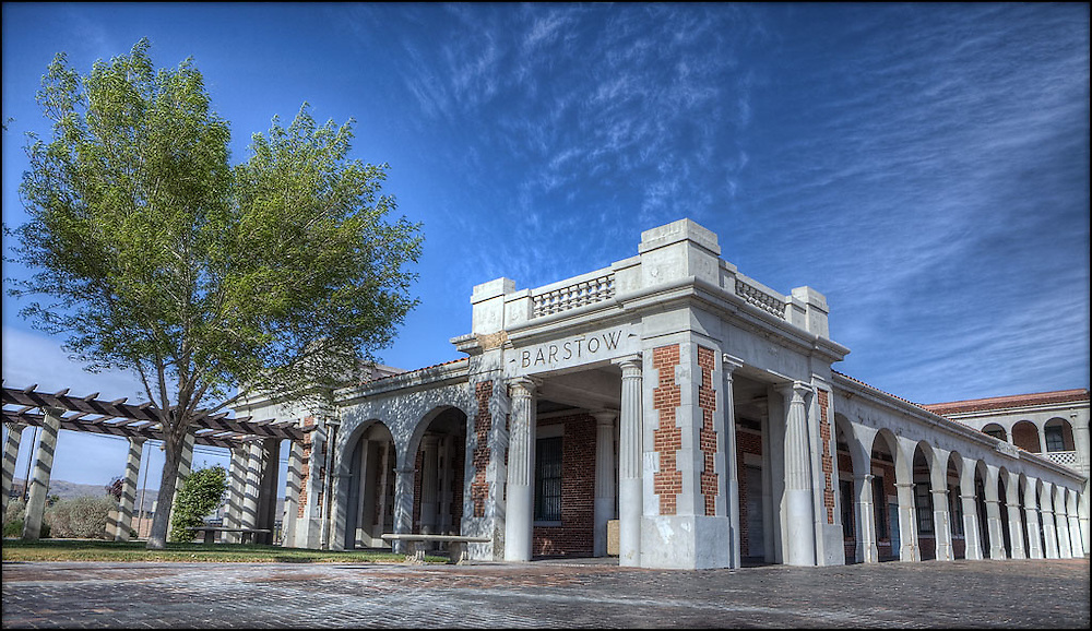 04-11-10: Barstow, California - A simple HDR image of Casa del Desierto, a Fred Harvey House hotel built in 1908 for the Santa Fe Railway. [HDRI]