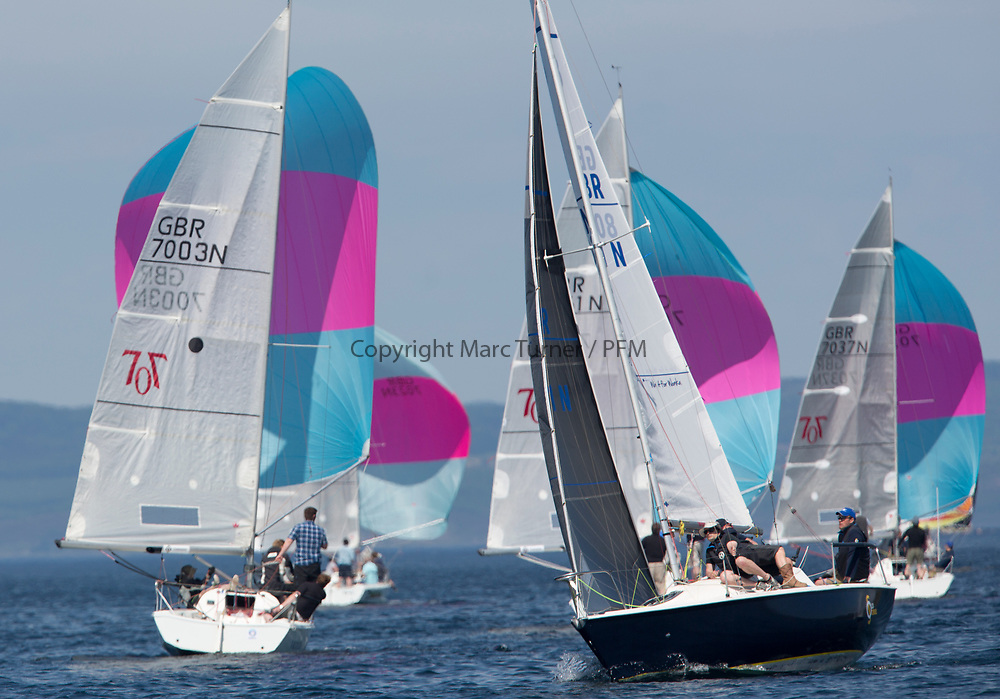 Silvers Marine Scottish Series 2017<br /> Tarbert Loch Fyne - Sailing<br /> <br /> GBR8011N, Old School, MacNish/Galbraith/Chas, RGYC<br /> <br /> Credit Marc Turner / PFM