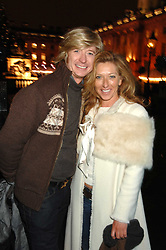 Hairdresser NICKY CLARKE and KELLY HOPPEN at a Winter Party to celebrate the opening of the Ice Rink at Somerset House, London in association with jewellers Tiffany on 20th November 2007.<br /><br />NON EXCLUSIVE - WORLD RIGHTS