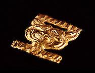 Original Gold Decoration on the caftan ceremonial dress of the Golden Man, Issiq Burial Mound, Kazakhstan