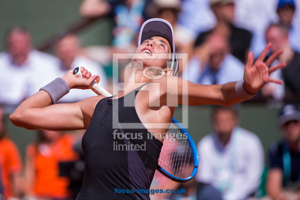 Garbi&ntilde;e Muguruza on Day Twelve of the ATP French Open Tennis Championship 2018 at Roland Garros, Paris<br /> Picture by EXPA Pictures/Focus Images Ltd 07814482222<br /> 07/06/2018<br /> *** UK &amp; IRELAND ONLY ***<br /> <br /> EXPA-THI-180607-0138.jpg