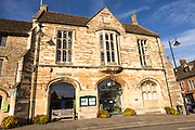 Tourist information council offices, Athelstan museum, Cross Hayes, Malmesbury, Wiltshire, England, UK