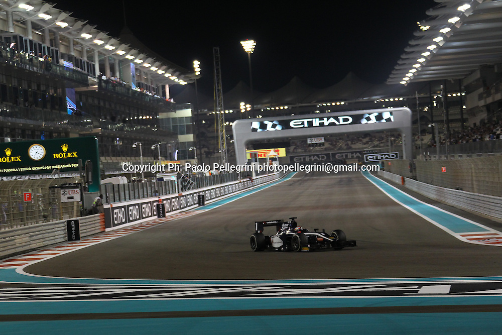 Mitch Evans of New Zealand driving for Russian Time competes at the final round of the 2014 GP2 series at Yas Marina, Abu Dhabi. 22 November 2014. Photo: Paolo Pellegrini/www.photosport.co.nz