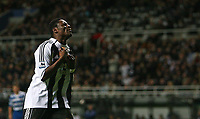 Photo: Andrew Unwin.<br /> Newcastle United v Reading. The Barclays Premiership. 06/12/2006.<br /> Newcastle's Obafemi Martins rues a missed opportunity.