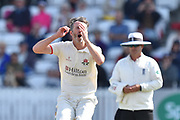 Graham Onions of Lancashire reacts after bowling a ball during the Specsavers County Champ Div 1 match between Somerset County Cricket Club and Lancashire County Cricket Club at the Cooper Associates County Ground, Taunton, United Kingdom on 5 September 2018.