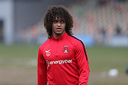 Leyton Orient Sandro Semedo (22) warming up before the EFL Sky Bet League 2 match between Newport County and Leyton Orient at Rodney Parade, Newport, Wales on 4 March 2017. Photo by Gary Learmonth.