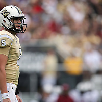 UCF Knights quarterback Blake Bortles (5) during an NCAA football game between the South Carolina Gamecocks and the Central Florida Knights at Bright House Networks Stadium on Saturday, September 28, 2013 in Orlando, Florida. (AP Photo/Alex Menendez)