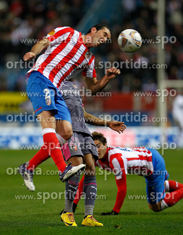 15.12.2011, Vicente Calderon Stadion, Madrid, ESP, UEFA EL, Gruppe I, Atletico Madrid (ESP) vs Stade Rennes (FRA), im Bild  Atletico de Madrid's Diego Godin // during Europa League match.December 15,2011. (ALTERPHOTOS/Acero). EXPA Pictures © 2011, PhotoCredit: EXPA/ Alterphotos/ Acero..***** ATTENTION - OUT OF ESP and SUI *****