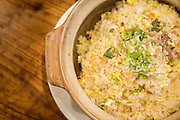 A pot of seafood fried rice is photographed at Great Mall Mayflower Restaurant in Milpitas, California, on September 11, 2014. (Stan Olszewski/SOSKIphoto)