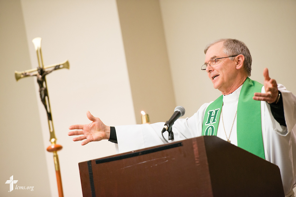 The Rev. Dr. James Lamb, president of Lutherans for Life, preaches during pre-march Divine Service Thursday, Jan. 22, 2015, at the Hilton in Crystal City, Va. LCMS Communications/Erik M. Lunsford