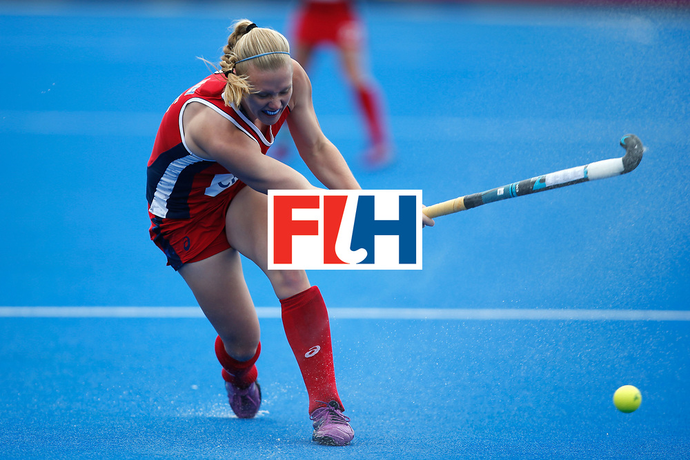 LONDON, ENGLAND - JUNE 18: Stefanie Fee of the USA during the FIH Women's Hockey Champions Trophy 2016 match between United States and Australia at Queen Elizabeth Olympic Park on June 18, 2016 in London, England.  (Photo by Joel Ford/Getty Images)