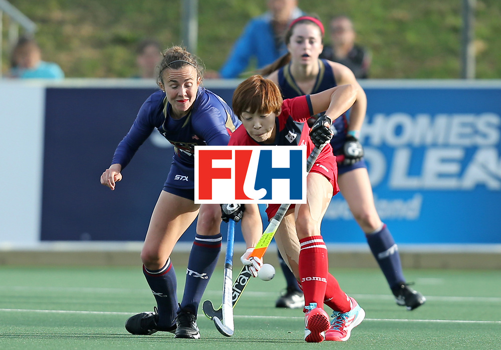 New Zealand, Auckland - 17/11/17  <br /> Sentinel Homes Women&rsquo;s Hockey World League Final<br /> Harbour Hockey Stadium<br /> Copyrigth: Worldsportpics, Rodrigo Jaramillo<br /> Match ID: 10291 - USA vs KOR<br /> Photo: (4) SHEALY Loren against (18) JANG Heesun