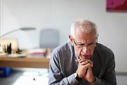 Portrait de Philippe Mérieux pédagogue, écrivain, professeur d'université en science de l'éducation et homme politique // Portrait of Philippe Merieux, a teacher, writer and professer in the university of science of education and the political man. France.