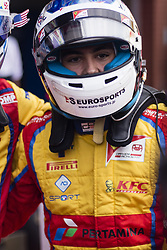 August 27, 2017 - Spa, Belgium - ALESI Giuliano from France of Trident celebrating his victory during the FIA GP3 championship at Circuit de Spa-Francorchamps on August 27, 2017 in Spa, Belgium. (Credit Image: © Xavier Bonilla/NurPhoto via ZUMA Press)