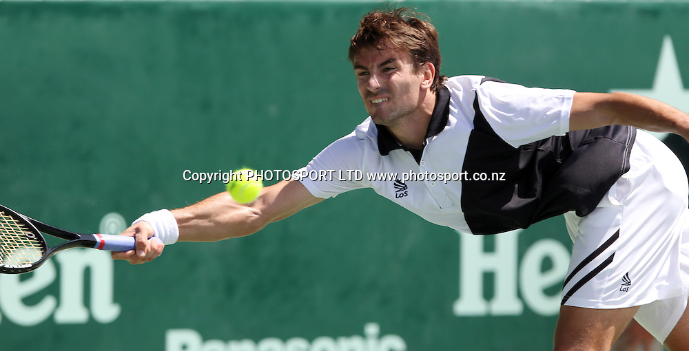 Spain's Tommy Robredo during his second round singles match versus John Isner of the USA at the Heineken Open, ASB Tennis Centre, Auckland, New Zealand. Thursday 14 January, 2010. Photo: Andrew Cornaga/PHOTOSPORT