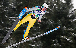 Julia Clair of France during Normal Hill Individual Competition at FIS World Cup Ski jumping Ladies Ljubno 2012, on February 11, 2012 in Ljubno ob Savinji, Slovenia. (Photo By Vid Ponikvar / Sportida.com)