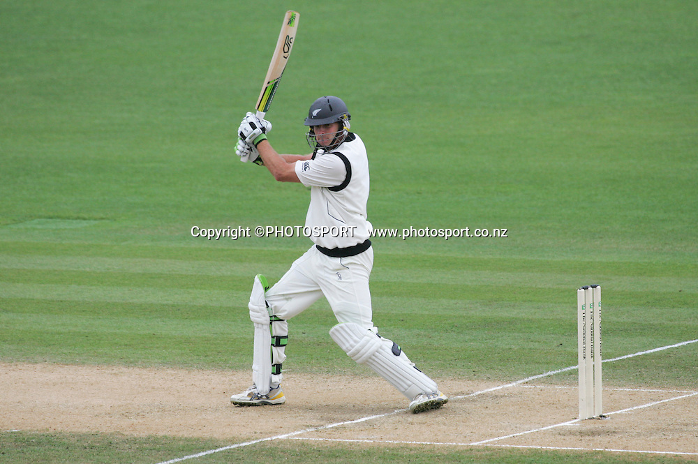 Tim McIntosh on his way his maiden century on Day 3. Second Test Match, National Bank Test Series. McLean Park, Napier. 21 December 2008,  Photo: John Cowpland/PHOTOSPORT
