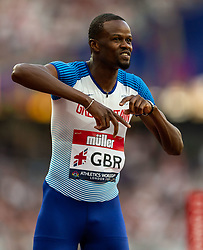 Great Britain's Rabah Yousif in the mens 400m during day two of the Athletics World Cup at The Queen Elizabeth Stadium, London.