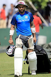 July 25, 2017 - Galle, Sri Lanka - Indian cricket captain Virat Kohli walks away after taking part in a practice session ahead of the 1st test match between Sri Lanka and India at Galle International cricket stadium, Galle, Sri Lanka on Tuesday 25 July 2017. (Credit Image: © Tharaka Basnayaka/NurPhoto via ZUMA Press)