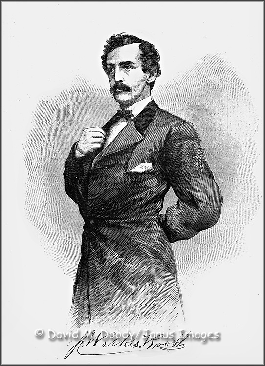 Civil War: President Lincoln's assassin, the actor John Wilkes Booth on the cover Harper's Weekly April 29, 1865  Presidents; Criminals.