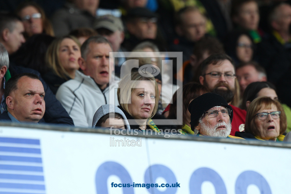 The traveling Norwich fans start to look unhappy after seeing their side go two goals down during the Sky Bet Championship match at Hillsborough, Sheffield<br /> Picture by Paul Chesterton/Focus Images Ltd +44 7904 640267<br /> 04/03/2017